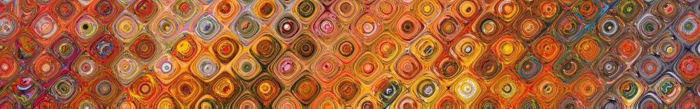 Abstract swirls of warm colors: oranges, yellows, and browns.